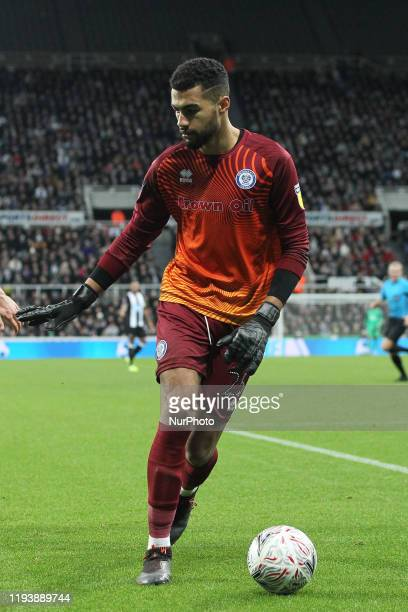Robert Sanchez of Rochdale during the FA Cup match between Newcastle United and Rochdale at St James's Park Newcastle on Tuesday 14th January 2020