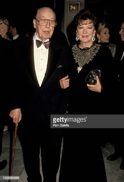Robert Sarnoff and Anna Moffo during Fashion Institute of Technology Tribute to Pauline Trigere at Fashion Institute of Technology in New York City...