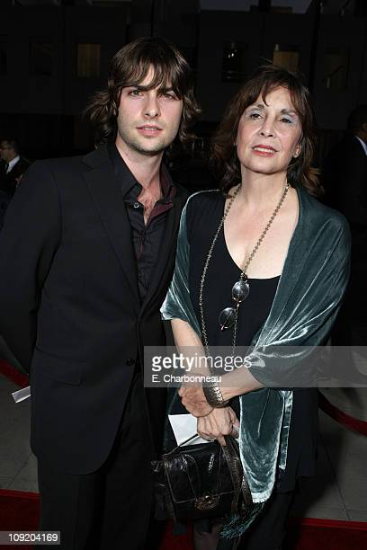 Robert Schwartzman and Talia Shire at the The Darjeeling Limited Los Angeles Premiere at the Academy of Motion Picture Arts and Sciences on October 4...