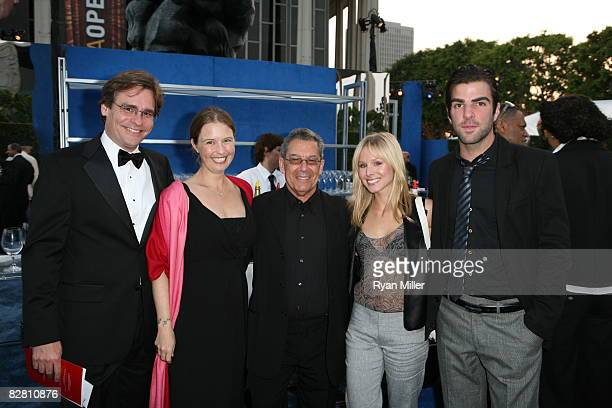 Robert Sean Leonard Gabriella Salick The House of Blue Leaves Director Nicholas Martin Kristen Bell and Zachary Quinto during the grand reopening...