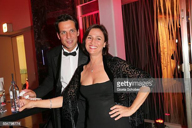 Robert Seeliger and Sandra Maischberger during the Lola German Film Award 2016 after show party at Palais am Funkturm on May 27 2016 in Berlin Germany