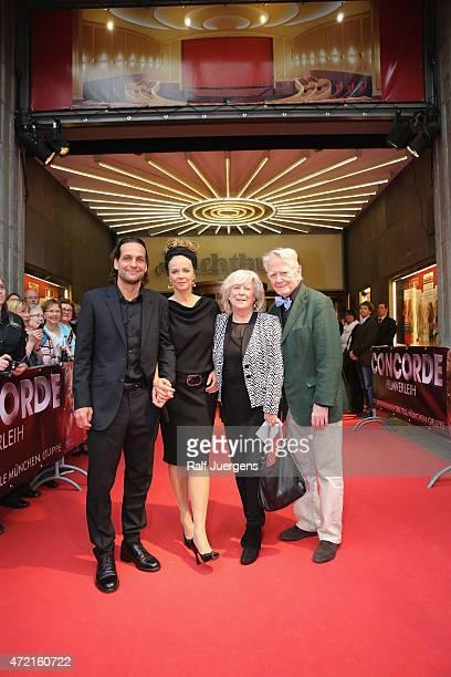 Robert Seeliger Katja Riemann Margarethe von Trotta and Gunnar Moeller attend the German premiere for the film 'Die abhandene Welt' at Lichtburg on...
