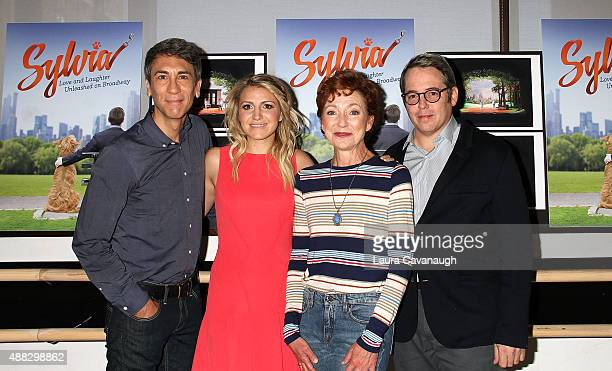 Robert Sella Annaleigh Ashford Julie White and Matthew Broderick attend 'Sylvia' Broadway Press Day at Ballet Hispanico on September 15 2015 in New...