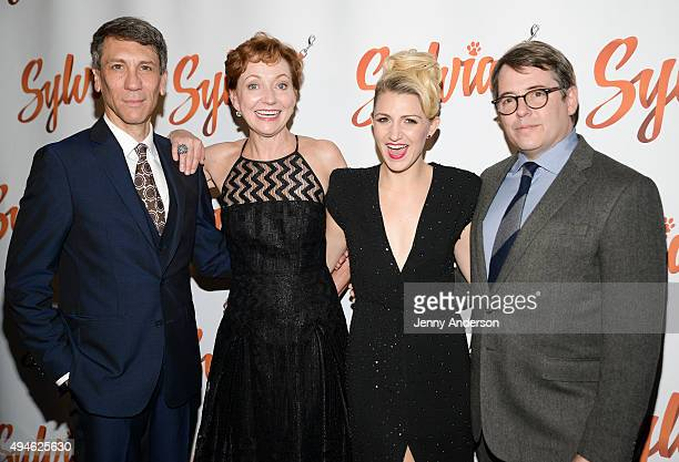 Robert Sella Julie White Annaleigh Ashford and Matthew Broderick attend 'Sylvia' opening night after party at Bryant Park Grill on October 27 2015 in...