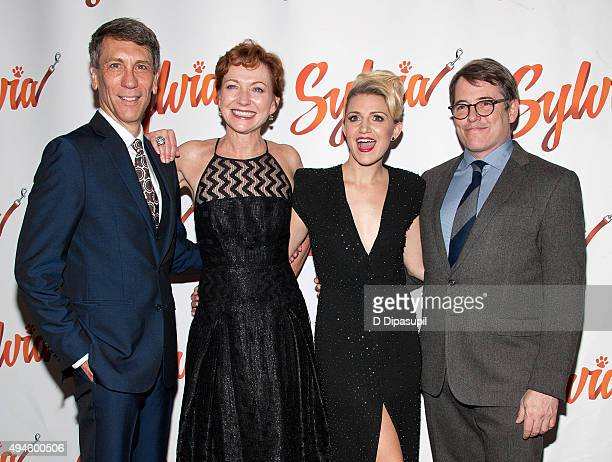 Robert Sella Julie White Annaleigh Ashford and Matthew Broderick attend the 'Sylvia' opening night after party at Bryant Park Grill on October 27...
