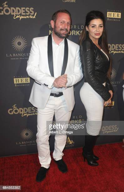 Robert Seneker and Ketevan Mikhnova arrive for The World Networks Presents Launch Of The Goddess Empowered held at Brandview Ballroom on May 17 2017...