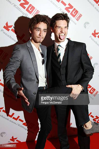 Robert Sheehan and Ben Barnes attend the UK premiere of Killing Bono held at the Apollo West End on March 28 2011 in London England