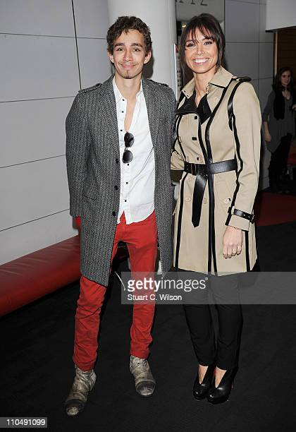 Robert Sheehan and Christine Bleakley attend the premiere of 'A Turtles Tale' at BFI Southbank on March 20 2011 in London England