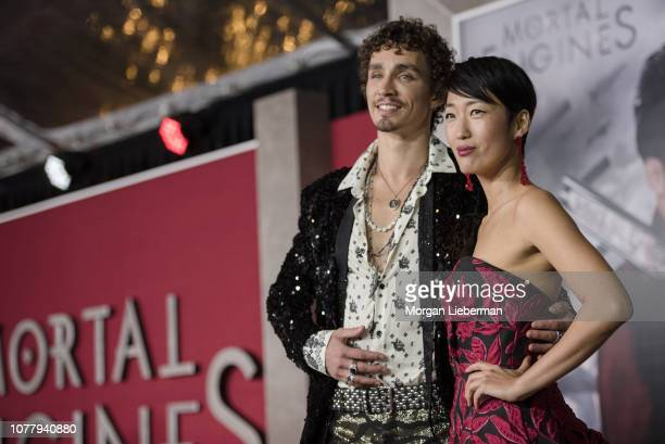 Robert Sheehan and Jihae arrive at the premiere Of Universal Pictures' Mortal Engines at Regency Village Theatre on December 5 2018 in Westwood...