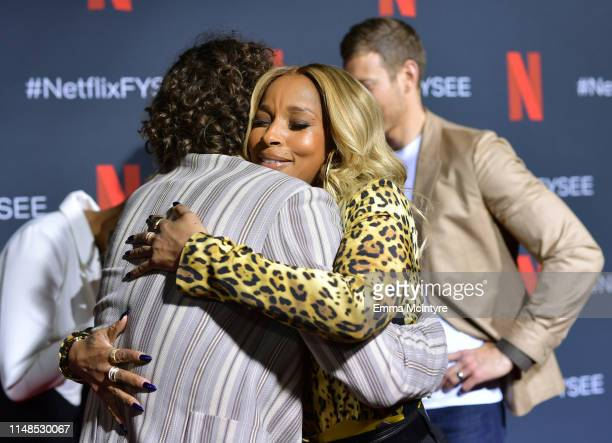 Robert Sheehan and Mary J Blige attend Netflix's 'Umbrella Academy' Screening at Raleigh Studios on May 11 2019 in Los Angeles California