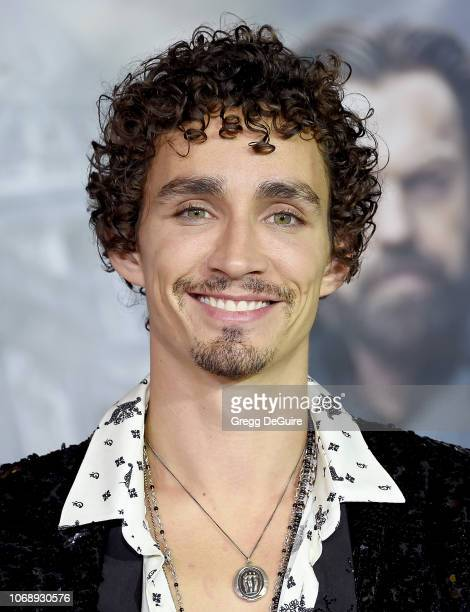 Robert Sheehan arrives at the Premiere Of Universal Pictures' 'Mortal Engines' at Regency Village Theatre on December 5 2018 in Westwood California