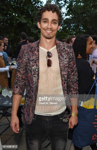 Robert Sheehan attends a drinks reception at Somerset House to celebrate the opening of Film4 Summer Screen at Somerset House on August 2018 in...