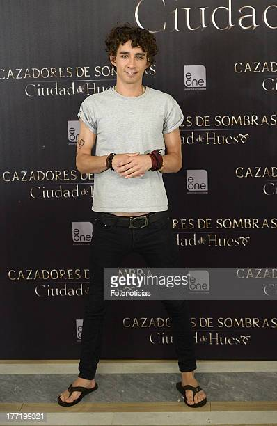 Robert Sheehan attends a photocall for 'The Mortal Instruments City Of Bones' at Villamagna Hotel on August 22 2013 in Madrid Spain