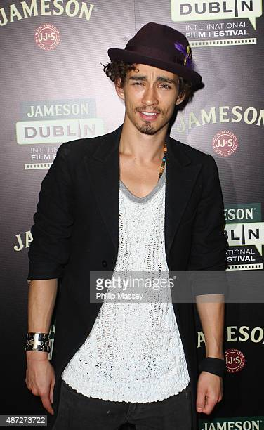 Robert Sheehan attends a screening of The Road Within during the Jameson Dublin International Film Festival at Cineworld on March 22 2015 in Dublin...