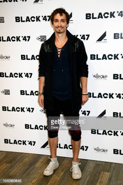 Robert Sheehan attends a special gala screening of Black '47' at Odeon Covent Garden on September 26 2018 in London England