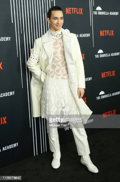 Robert Sheehan attends the Los Angeles premiere of Netflix's 'The Umbrella Academy' held at ArcLight Hollywood on February 12 2019 in Hollywood...