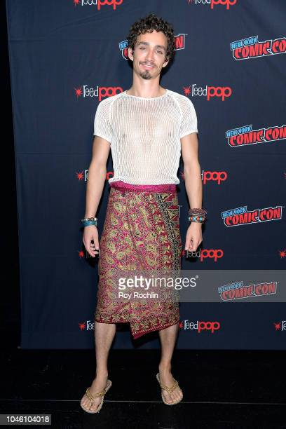 Robert Sheehan attends the Mortal Engines panel during the New York Comic Con 2018 at Javits Center on October 5 2018 in New York City