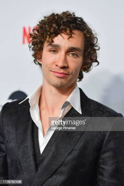 Robert Sheehan attends the premiere of Netflix's 'The Umbrella Academy' at TIFF Bell Lightbox on February 14 2019 in Toronto Canada