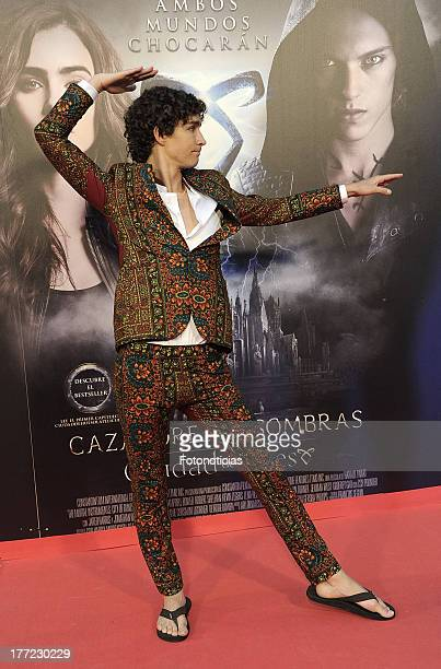 Robert Sheehan attends the premiere of 'The Mortal Instruments City Of Bones' at Callao Cinema on August 22 2013 in Madrid Spain