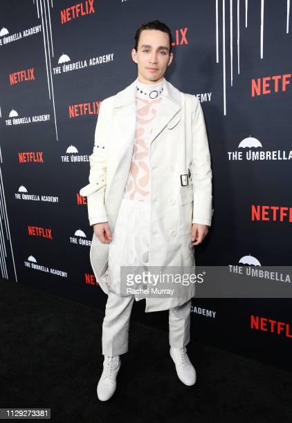 Robert Sheehan attends 'The Umbrella Academy' Premiere at Cinerama Dome on February 12 2019 in Hollywood California