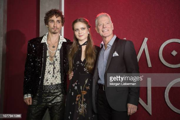 Robert Sheehan Hera Hilmar and Stephen Lang arrive at the premiere Of Universal Pictures' 'Mortal Engines' at Regency Village Theatre on December 5...