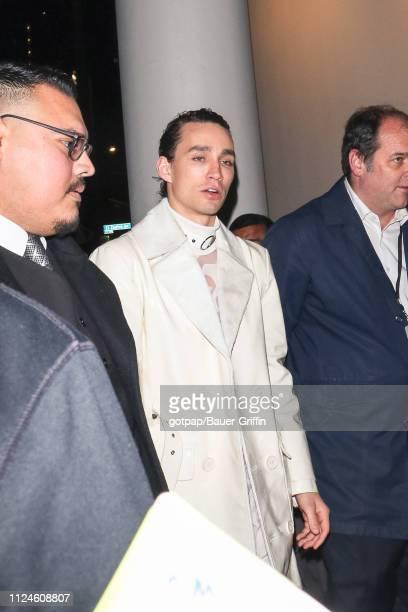 Robert Sheehan is seen on February 12 2019 in Los Angeles California