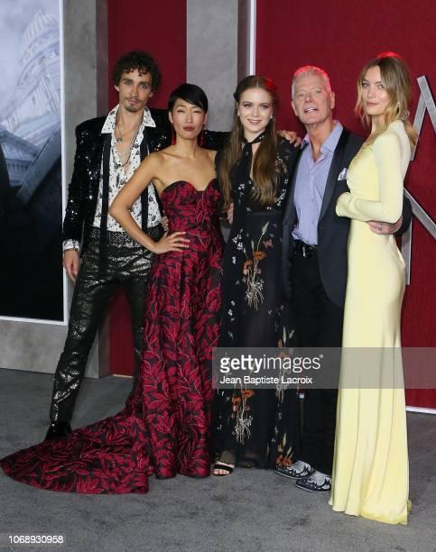 Robert Sheehan Jihae Hera Hilmar Stephen Lang and Leila George arrive at the Premiere Of Universal Pictures' 'Mortal Engines' at Regency Village...