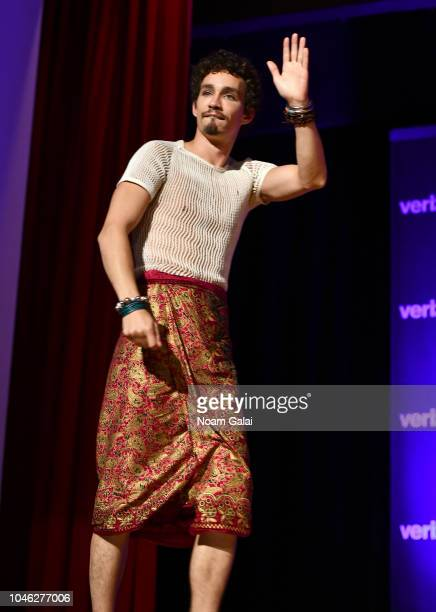 Robert Sheehan speaks onstage at the Netflix Chills panel during New York Comic Con 2018 at Jacob K Javits Convention Center on October 5 2018 in New...