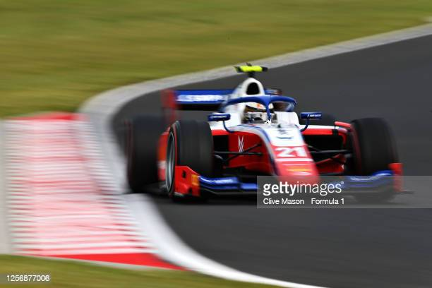 Robert Shwartzman of Russia and Prema Racing drives during the feature race for the Formula 2 Championship at Hungaroring on July 18, 2020 in...