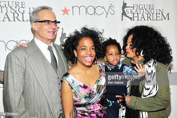 Robert Silberstein Rhonda Ross RaifHenok Kendrick and Diana Ross attend the 2012 Skating with the Stars gala at theWollman Rink Central Park on April...