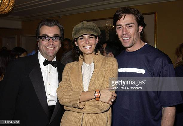 Robert Siragusa Angie Harmon Jason Sehorn at the Maurice Lacroix table
