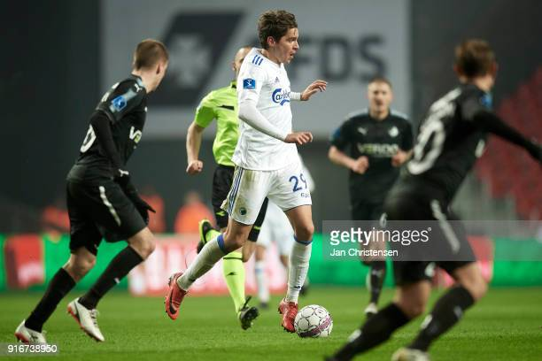 Robert Skov of FC Copenhagen in action during the Danish Alka Superliga match between FC Copenhagen and Randers FC at Telia Parken Stadium on...