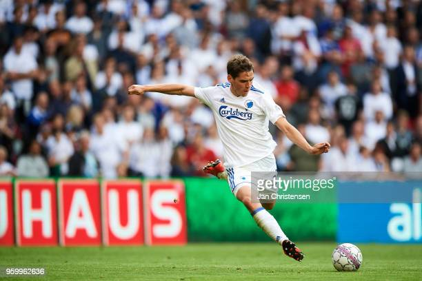 Robert Skov of FC Copenhagen in action during the Danish Alka Superliga match between FC Copenhagen and FC Midtjylland at Telia Parken Stadium on May...