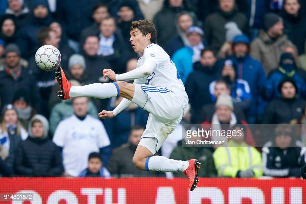 Robert Skov of FC Copenhagen in action during the Danish Cup DBU Pokalen match between FC Copenhagen and Brondby IF in Telia Parken Stadium on...
