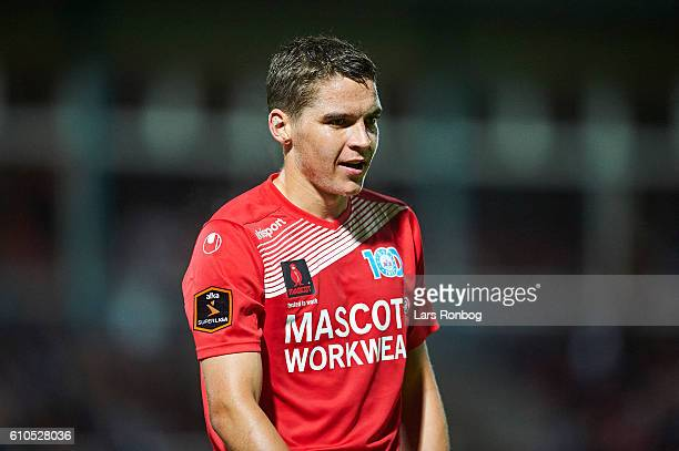 Robert Skov of Silkeborg IF looks on during the Danish Alka Superliga match between Silkeborg IF and AaB Aalborg at Mascot Park on September 26 2016...