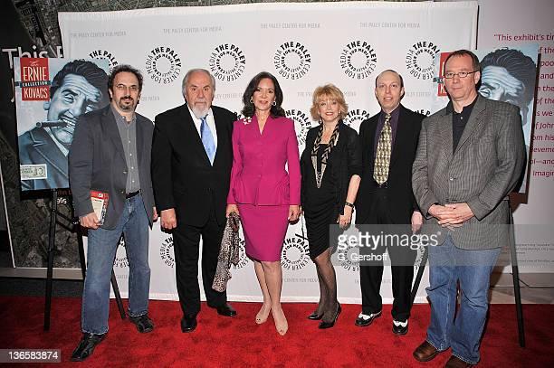 Robert Smigel George Schlatter Jolene Schlatter President CEO Paley Center Pat Mitchell Ben Model and Joel Hodgson attend 'It's Been Real The Life...