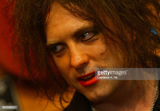 Robert Smith and his band the Cure being enducted into the Rock Walk Hall of Fame at the Guitar Center in Hollywood Pic shows Robert Smith in the...