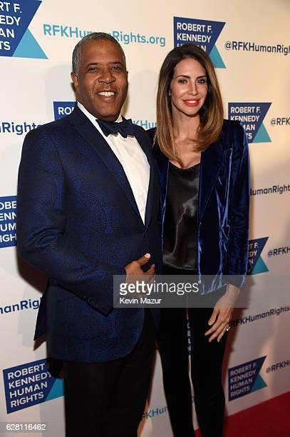Robert Smith and Hope Dworaczyk attend RFK Human Rights' Ripple of Hope Awards Honoring VP Joe Biden Howard Schultz Scott Minerd in New York City