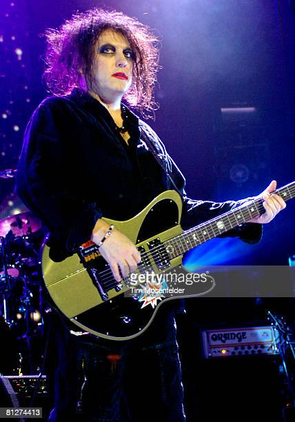 Robert Smith and The Cure perform part of the bands 4 tour at the HP Pavilion on May 28 2008 in San Jose California