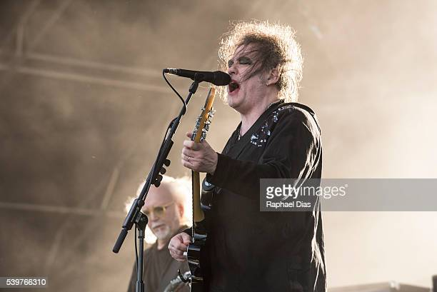 Robert Smith from The Cure performs at Bestival day 2 at Woodbine Park on June 12 2016 in Toronto Canada