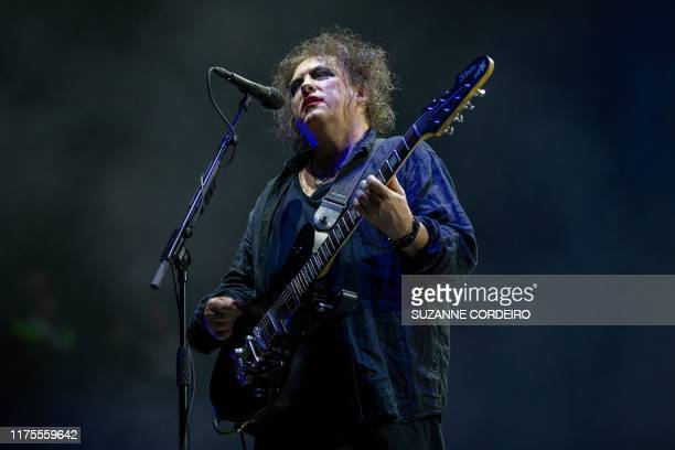 Robert Smith of British rock band The Cure performs at the Austin City Limits Music Festival on October 12, 2019 at Zilker Park in Austin, Texas.