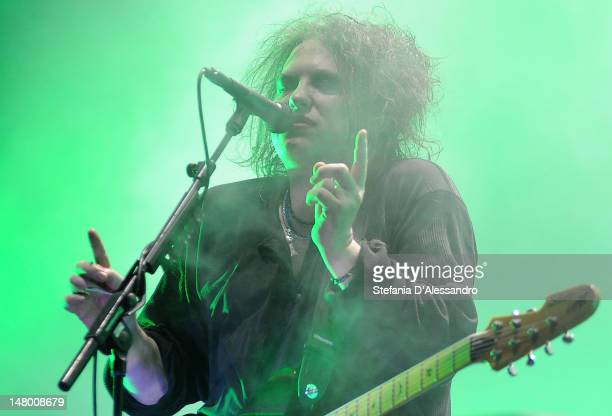 Robert Smith of Cure performs at the 2012 Heineken Jammin Festival on July 7 2012 in Milan Italy
