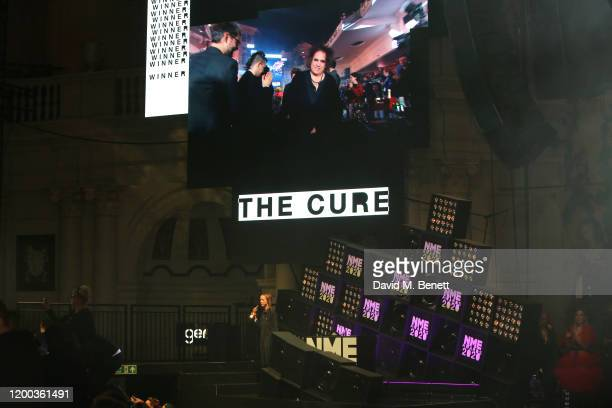 Robert Smith of The Cure accepts the Best Festival Headliner award at The NME Awards 2020 at the O2 Academy Brixton on February 12 2020 in London...