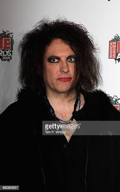 Robert Smith of The Cure arrives to attend the Shockwaves NME Awards 2009 at the o2 Brixton Academy on February 25 2009 in London England