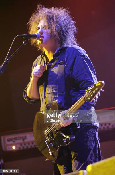 Robert Smith of The Cure during 2004 Coachella Valley Music Festival The Cure at Empire Polo Grounds in Indio California United States