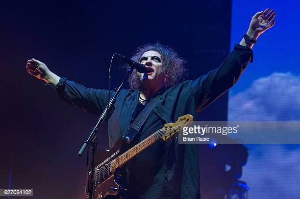 Robert Smith of The Cure performs at SSE Arena Wembley on December 1 2016 in London England
