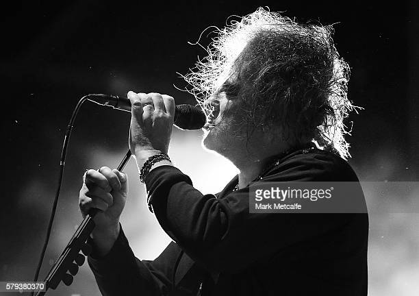 Robert Smith of The Cure performs during Splendour in the Grass 2016 on July 23 2016 in Byron Bay Australia