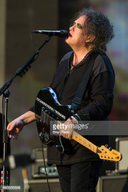 Robert Smith of The Cure performs live at Barclaycard present British Summer Time Hyde Park at Hyde Park on July 7 2018 in London England