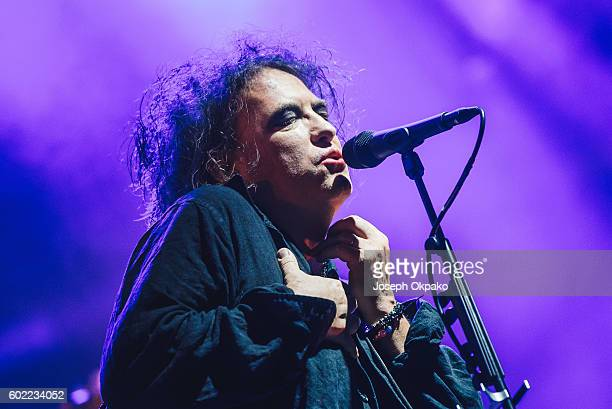 Robert Smith of The Cure performs on Day 3 of Bestival at Robin Hill Country Park on September 10 2016 in Newport Isle of Wight