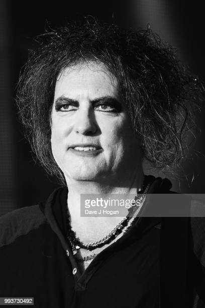 Robert Smith of The Cure performs on stage as Barclaycard present British Summer Time Hyde Park at Hyde Park on July 7 2018 in London England
